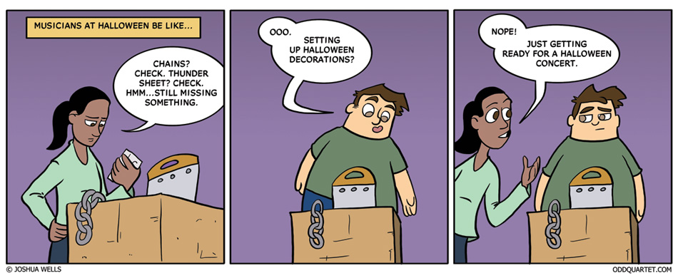 Musicians at Halloween